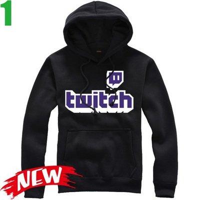 【Twitch】連帽厚絨長袖創意設計主題T恤(共5種顏色可供選購) 新款上市購買多件多優惠!【賣場一】