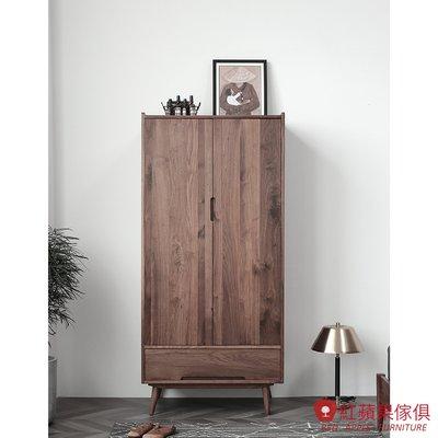 [紅蘋果傢俱]HM006 衣櫃 衣櫥 北歐風衣櫃 日式床衣櫃 實木衣櫃 無印風 簡約風