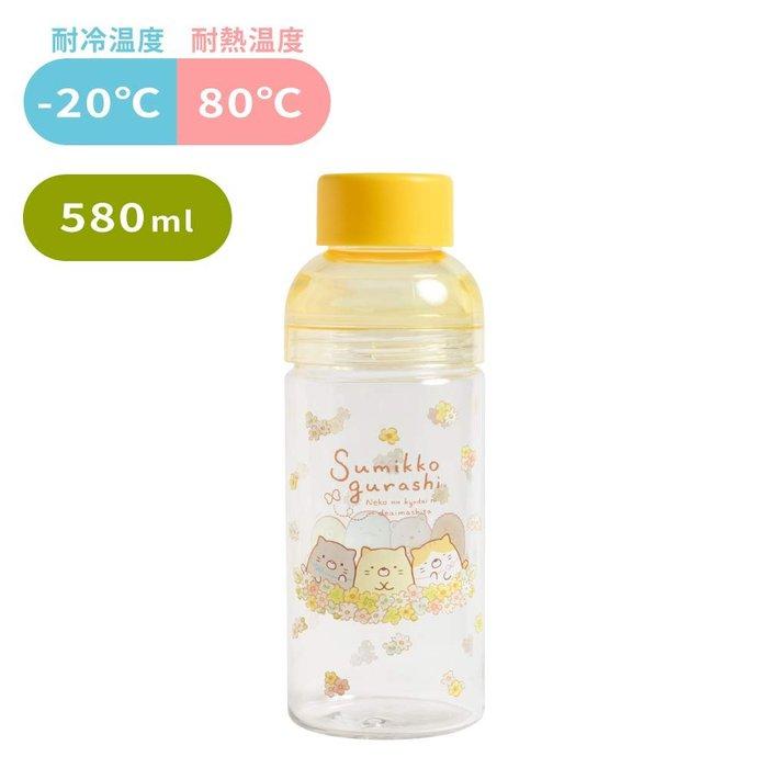 水瓶--日本正版SAN-X角落生物貓咪友達透明水壺/水瓶580ml--秘密花園