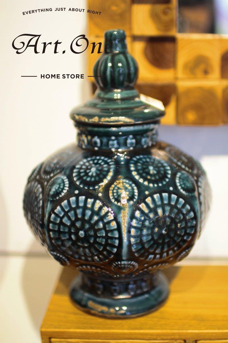 AU240002綠色民殂造型陶器