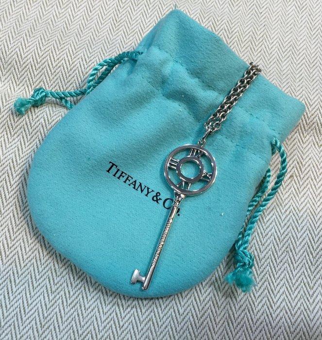 《當肯二手名品》TIFFANY 羅馬數字 鑰匙 純銀 項鍊 ㊣
