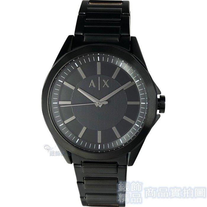 AX 手錶 ARMANI EXCHANGE AX2620 直紋錶盤 IP黑色鋼帶 男錶【錶飾精品】