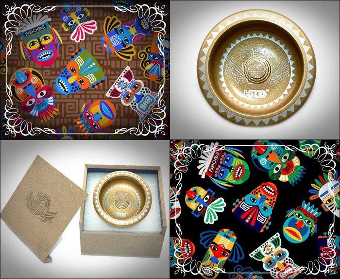 奇妙的溜溜球世界 INCA 限量版 復古華麗亮面金色 雷射印加風格圖騰 獨立編號 精美木盒包裝 專業技術球 收藏 禮物
