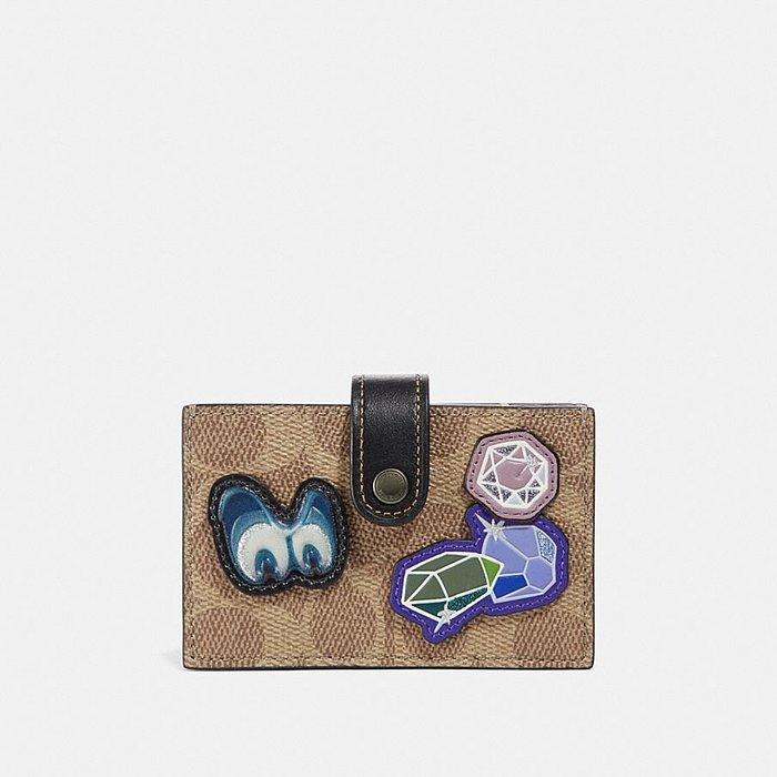 Coco小舖COACH 33054 Disney X Coach Accordion Card Case 經典印花卡夾