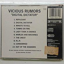 Vicious Rumors Digital Dictator 美國重金屬樂團第二張專輯 有IFPI MADE IN GERMANY 德版