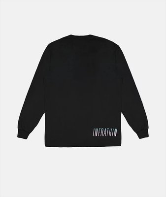 (A.B.E)INFRATHIN BLACK LONG SLEEVE WITH GRADIENT WAVE AND LOGO 兩款
