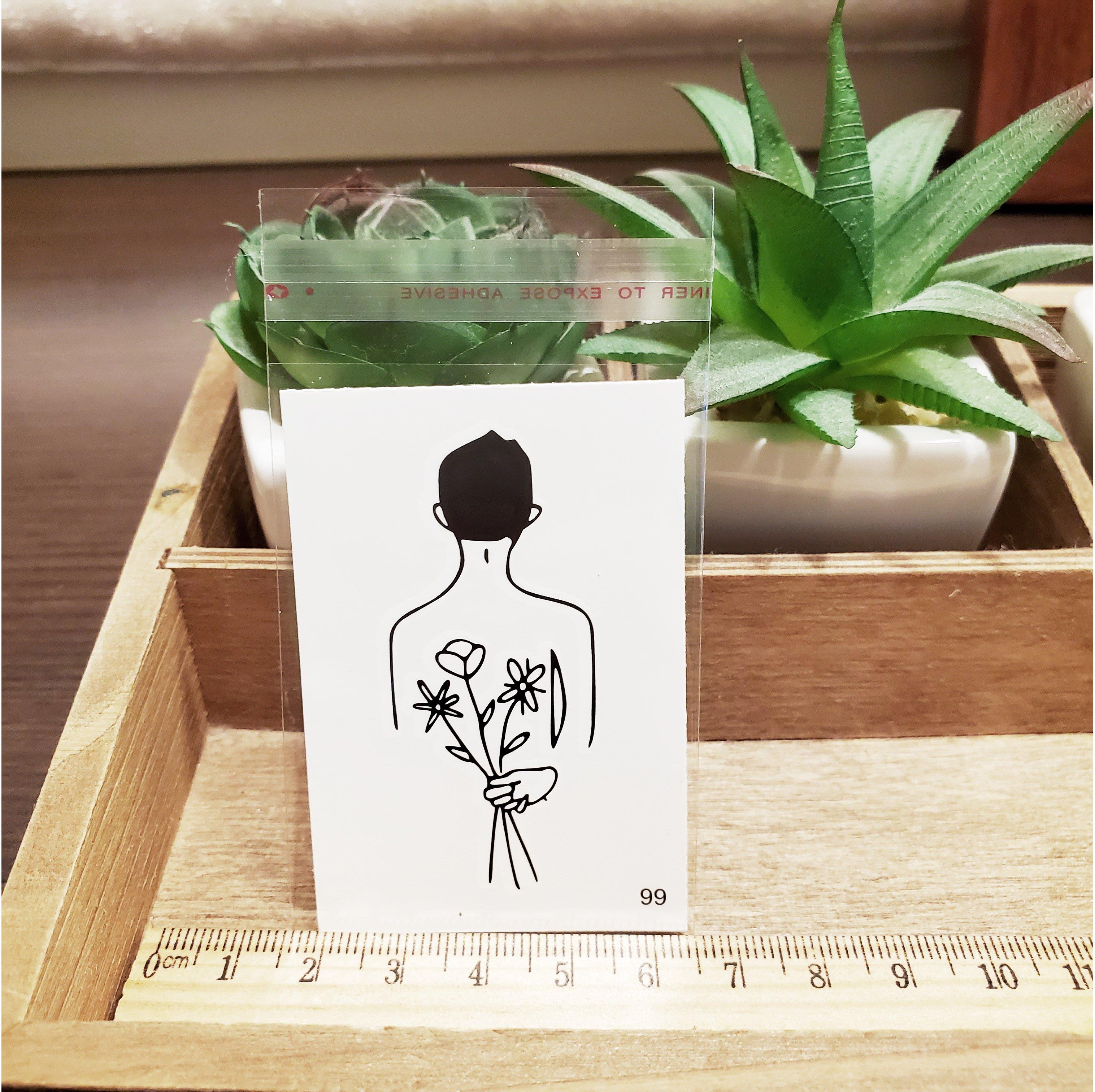 【萌古屋】百態人生99單圖 - 男女防水紋身貼紙刺青貼紙 K43