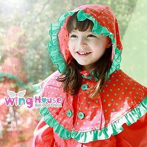 BHG001-韓國進口WINGHOUSE品牌 新款女孩可愛雨衣【現貨】韓國原廠正品