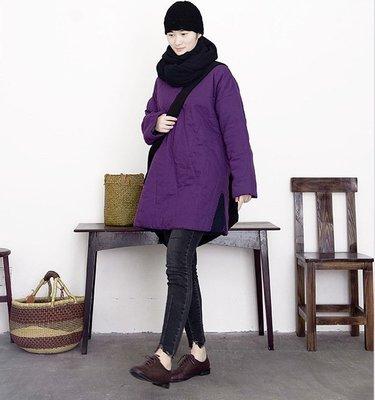 冬裝設計款特色領口夾棉保暖棉衣(老銀屋)