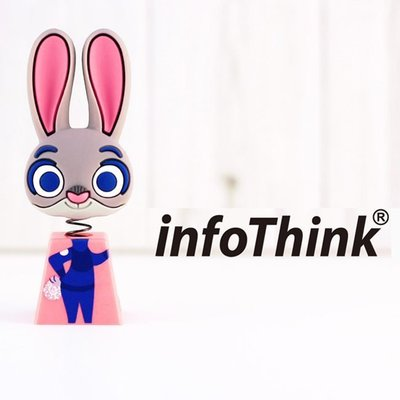【紫色風鈴】特價 InfoThink ZOOTOPIA 兔子搖頭造型隨身碟 16GB