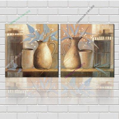 【40*40cm】【厚0.9cm】印象花瓶-無框畫裝飾畫版畫客廳簡約家居餐廳臥室牆壁【280101_185】(1套價格)