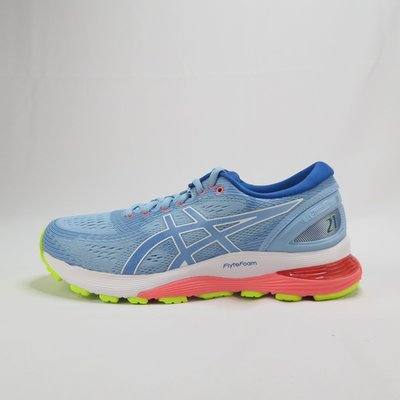Asics亞瑟士 GEL-NIMBUS 21 慢跑鞋正貨 1012A155402 女 淺藍 D寬楦【iSport愛運動】
