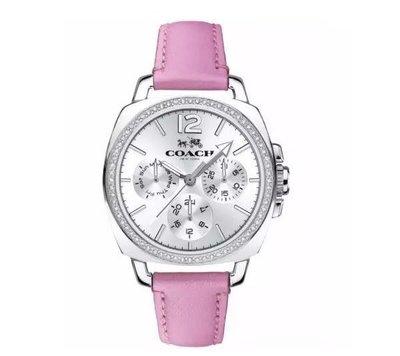 我愛名牌COACH包 美國100%正品【 清倉低價出售購買兩件免運】14502233真皮時尚錶 大錶盤時裝女手錶