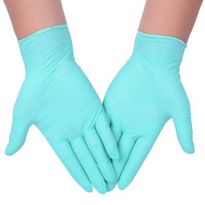 一次性乳膠丁晴手套PVC無粉橡膠牙科檢查防油耐油白勞保手套 好康免運
