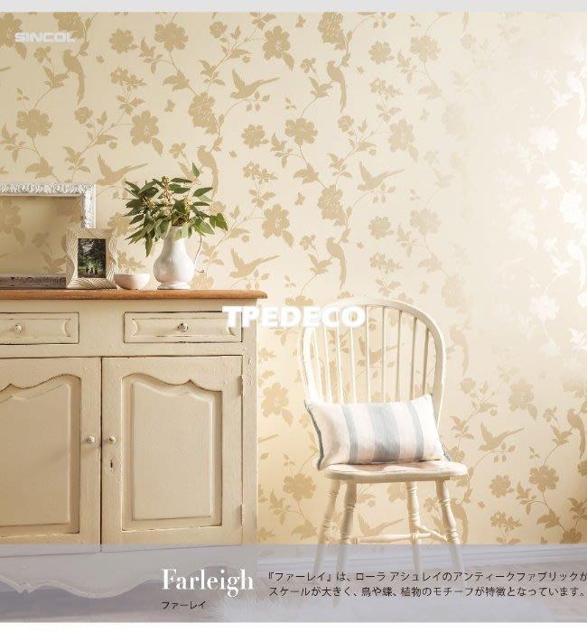 【大台北裝潢】日本進口壁紙BA* 英國Laura Ashley聯名款 花園花鳥蝴蝶(2色) | 3604-3605 |