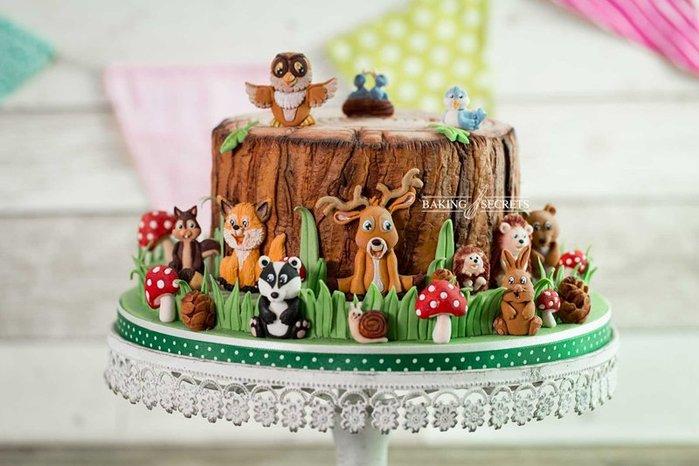 硅膠蛋糕模具 森林動物合集鹿貓頭鷹松鼠熊模具 烘焙秘密