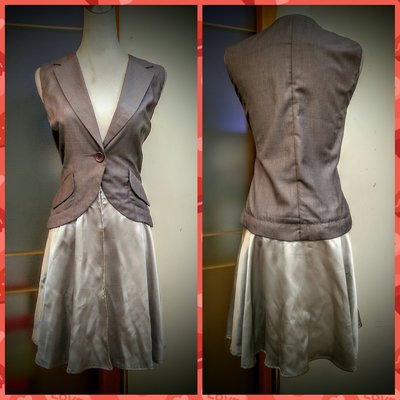 ※日本名牌※【netherworld gallery】  灰色可拆式背心連身裙 ~JY3