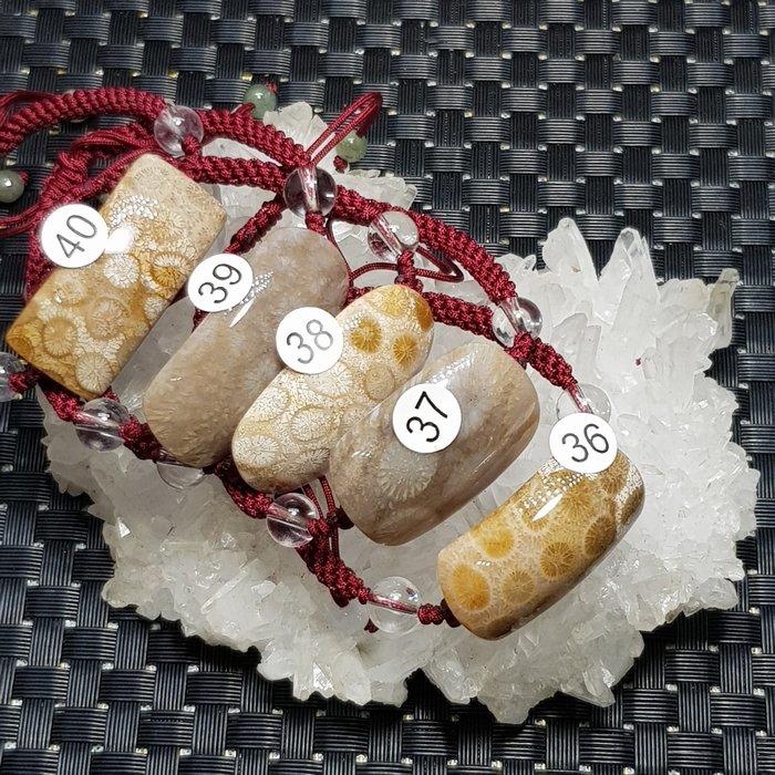 二姐的店 天然 菊花石 珊瑚玉 手鍊 手牌  中國結 設計款 男女款☆特價一條399元 ~h636~640