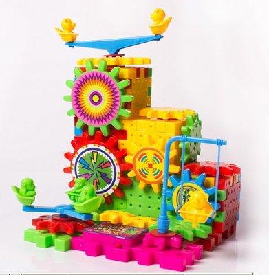 ~鈺見奇蹟~百變電動積木 玩具拼裝 81塊 盒裝 雪花片 齒輪積木 兒童 益智拼圖類 玩具