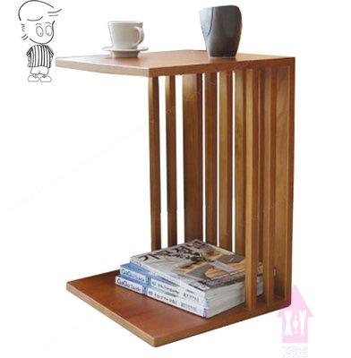 【X+Y時尚精品傢俱】 現代茶几系列-直柱 柚木色小邊几.椿木實木.摩登家具