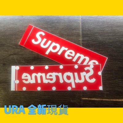 【URA 全新現貨】SUPREME X COMME des GARCONS川久保玲 點點 波點 霧面貼紙 全新正品