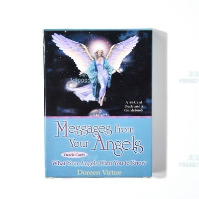 Messages from Your Angels Oracle 來自天使的訊息神諭卡 英文 占卜 卡牌&淘淘樂家居小鋪OUIPOJKNM