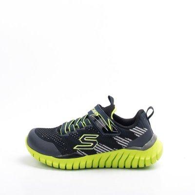 Skechers 黏扣 兒童慢跑鞋-綠...