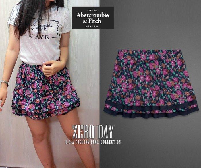 【零時差美國時尚網】A&F Abercrombie&Fitch Drew Skirt小碎花花朵雪紡短裙