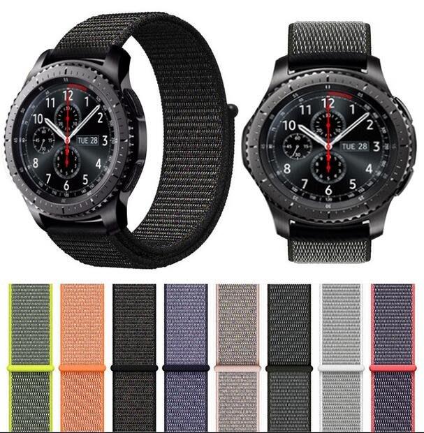 Ticwatch 1代  錶帶 尼龍回環 替換腕帶 透氣帆布  22mm 運動型 時尚簡約 簡約條紋