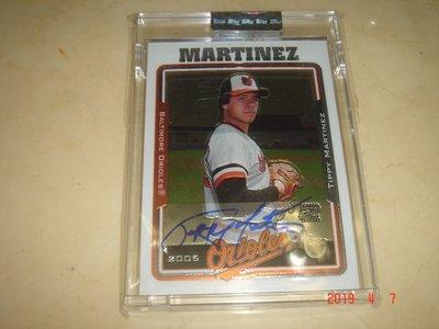 美國職棒 Orioles Tippy Martinez  2005 Topps Chrome 簽名卡 球員卡