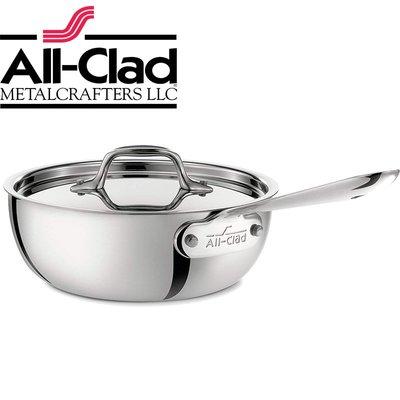美國All-Clad D3 STAINLESS 21cm含蓋 不銹鋼鍋 單柄 醬汁鍋 湯鍋 燉鍋 平底鍋 寬底