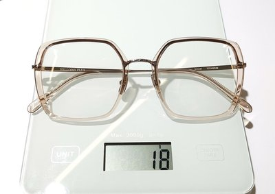 #YELLOWS_PLUS #ELIZA #大四方框面 #51口21 #日本製造 #手工眼鏡#純鈦金屬鏡腳#粉水晶色框面淡金色鈦鏡腳
