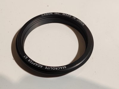 67mm CANON 微距鏡。接上環型閃燈專用套環 MR 14EX 100mm macro 彰化縣