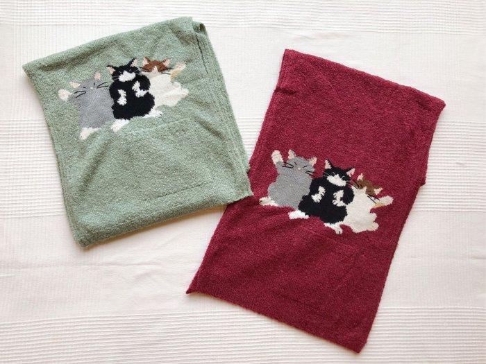 日本卡拉貓~三貓毛線織披肩圍巾