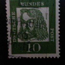 德國畫家杜勒十分實寄票(1960年代)       P001