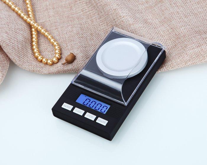 大托盤 高精密電子秤 50g/0.001g,珠寶秤 克拉秤,口袋秤/鑽石秤/天平儀器,毫克 黄金 鑽石 藥秤