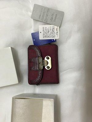 Burberry 藍標 日本購入 酒紅色短夾 7成新