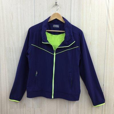 【愛莎&嵐】lotto 女 藍紫色防風風衣外套 / XL 1100201