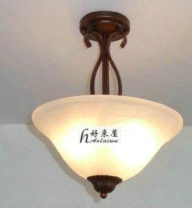 {美學}歐式單頭鐵藝吸頂燈 過道走廊餐廳客廳玻璃吸頂燈MX-2141