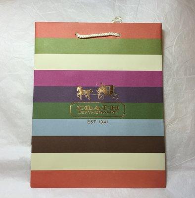 美國寄回 Coach 專櫃紙袋小款 (尺寸:`19.7x24.8x12cm) ~ 也有紙盒,高市可面交