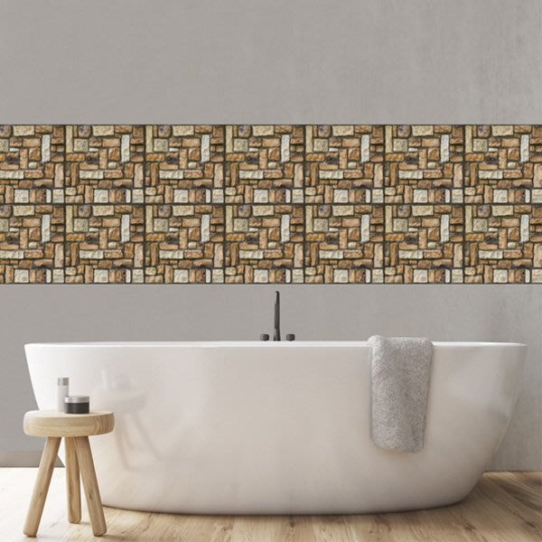 《Jami Honey》【JI2127】復古3D立體牆貼 仿真瓷磚貼 裝飾防撞牆貼