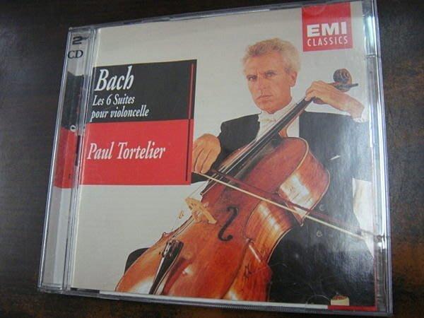 好音悅 Tortelier 托特里耶 Bach Cello Suites 巴哈 無伴奏大提琴 2CD EMI