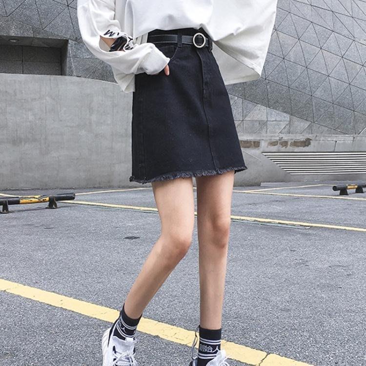短裙 半身裙女裝夏2019春季新款牛仔裙a字短裙包臀超火裙子大碼胖mm