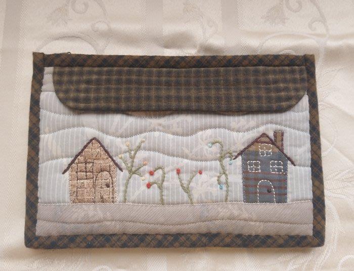 午后時光收納包~存摺包~收納包~手作包~拼布包~日本/美國棉布~手工製作