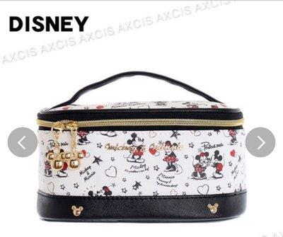 (現貨)合成皮革 約10x20x14cm 手提拉鍊開合 化妝袋 Disney Mickey Mouse 米奇老鼠 日本直送 全新品