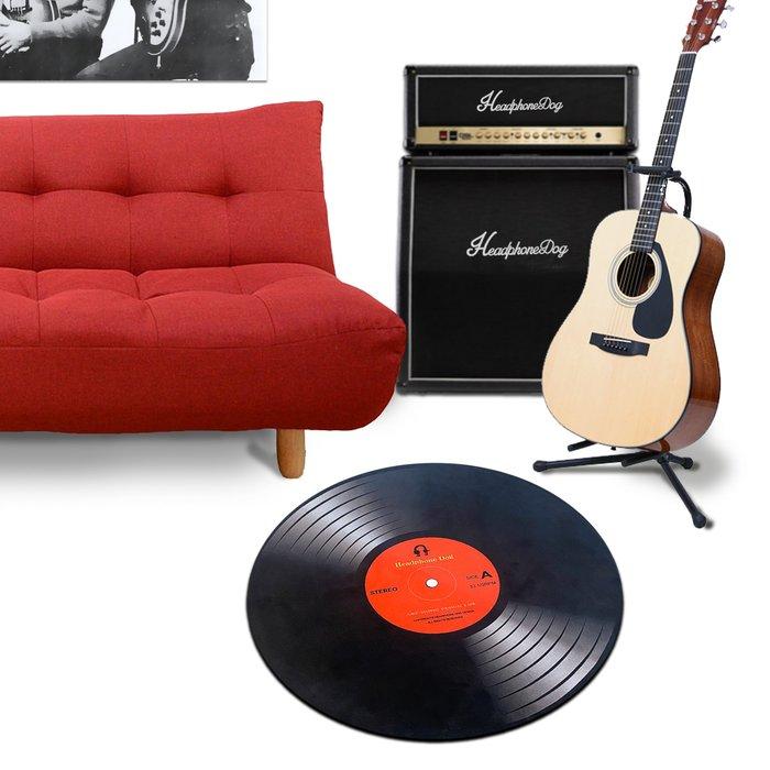 黑膠唱片柔毛地墊/地毯 Vinyl Record Effect Mat 音樂人生日 交換禮物