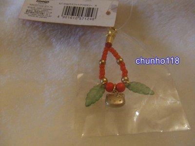 出清 全新 日本SANRIO KITTY 楓葉造型系列串珠吊飾(248)-2000年(已絕版)