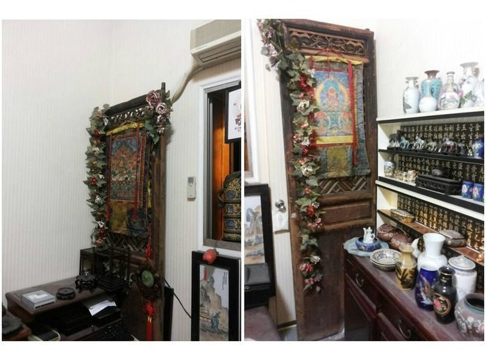 黃楊木/原木/ 木雕/古仔/舊件/門片/傳統木雕藝術/藝術裝飾件/窗花/中式窗|中式窗花|中國式窗|傳統窗|復古 雕刻