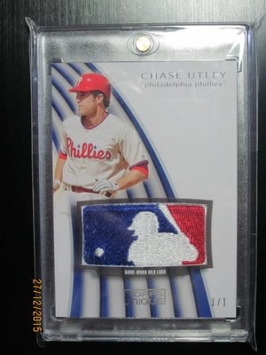 2009 Topps Unique  Chase Utley ~ Game-Worn MLB LOGO  1 OF 1