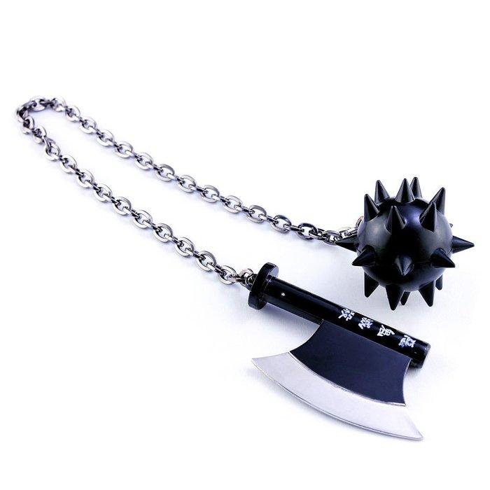 鬼滅之刃- -岩柱悲鳴嶼行冥鍊子錘斧 40cm(長劍配大劍架.此款贈送市價100元的大刀劍架)